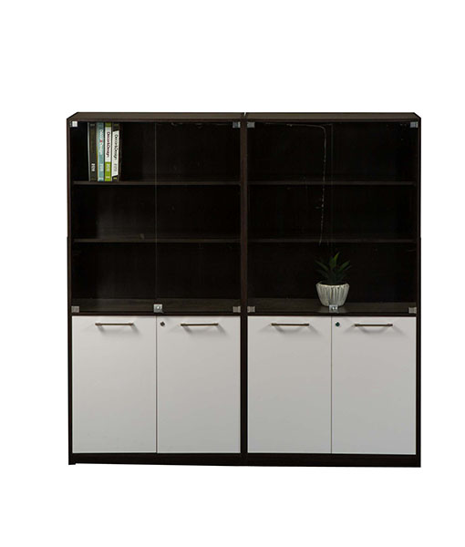 Evolution Wall Unit 4H/D Base with 3 Tier Glass Door Top ...