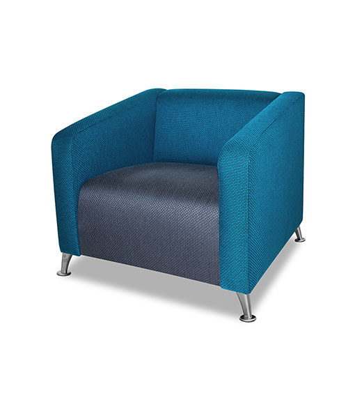 Melville Single Seater Couch Chromefoot Risers Bdk Office Furniture