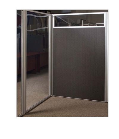 Floor Standing Screens Aluminium Frame Perspex / Fabric