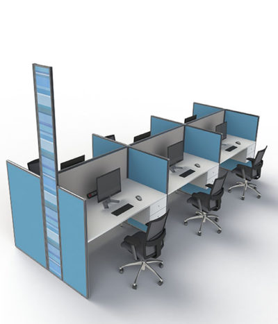 Floor & Desk Based Screens with Optional Power Reticulation