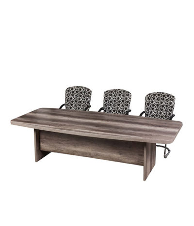 Senator Barrel Shape Boardroom table with Panel Leg – Top 50mm Mel