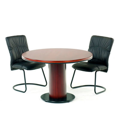 Summit Round Meeting / Conference Table with Barrel Base – Top 32mm Ven