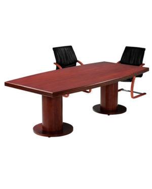 Boston Barrel Shape Boardroom Table with Barrel leg – Top 70mm Ven
