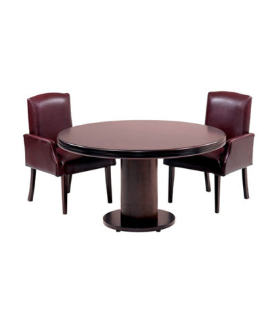 Boston Round Meeting / Conference Table with Barrel Base – Top 70mm Ven