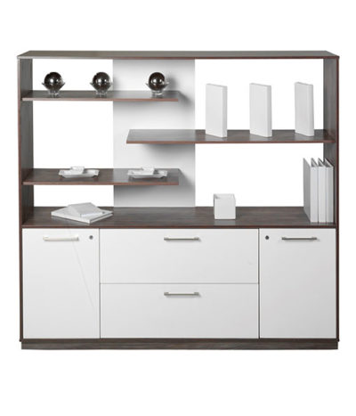 Evolution Exec Wall Unit with Floating Shelves – 1600mmHx1800mmWx450mmD