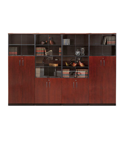 Summit Exec Wall Unit with H/D & Glass – 3600Wx2200Hx450D