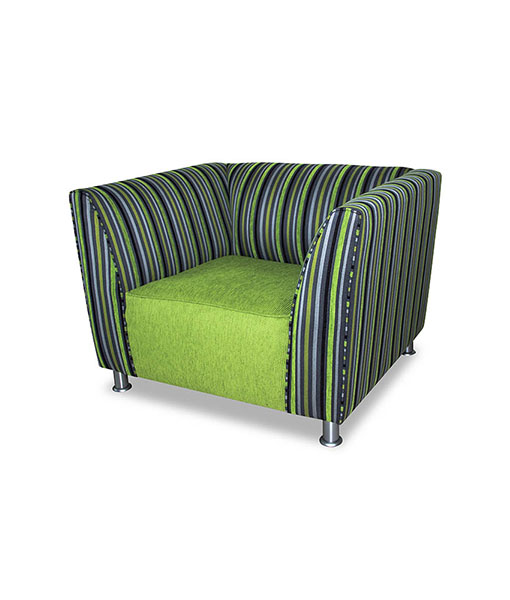 Dundee Single Seater Couch Chrome Foot Risers