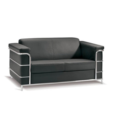 Cuba Double Seater Couch – Chrome Metal Frame Support
