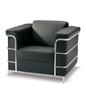 Cuba Single  Seater Couch – Chrome Metal Frame Support