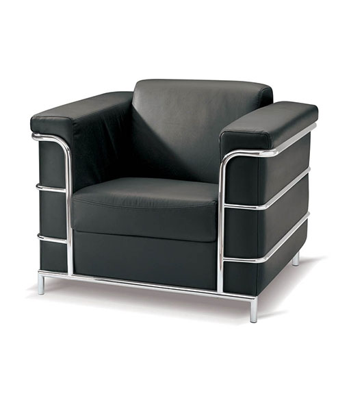 Cuba Single Seater Couch - Chrome Metal Frame Support ...