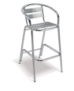 Aluminium Range – Flamingo Bar Chair with Arms