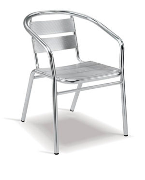 Aluminium Range – Sling Café Arm Chair