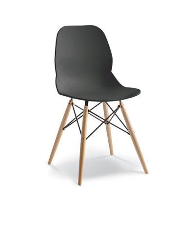Pylon Café Chair – Wooden Legs