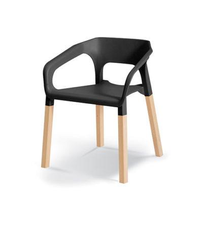 Woody Café Chair – Wooden Legs