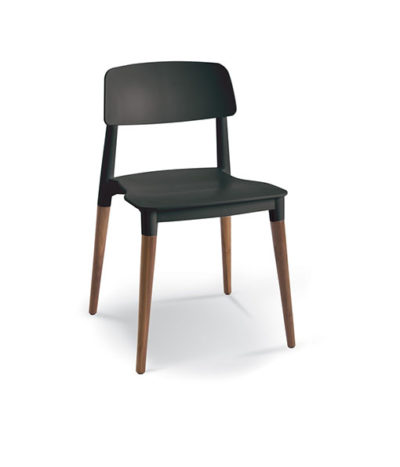 Fresh Café Chair – Wooden Legs
