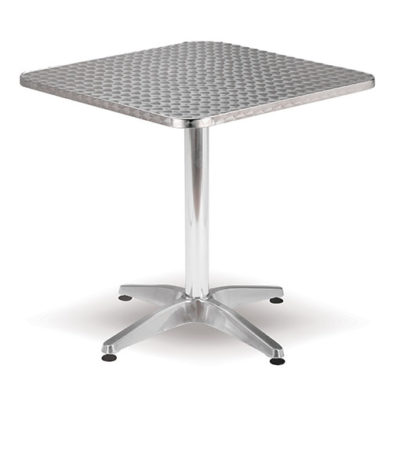 Aluminium Range – Sangria Square Café Table – 710mmH