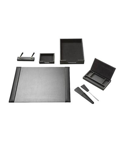 Leather Executive Desk Set