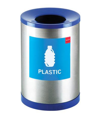 Recycle Round Bins – Single (Blue – Plastic)
