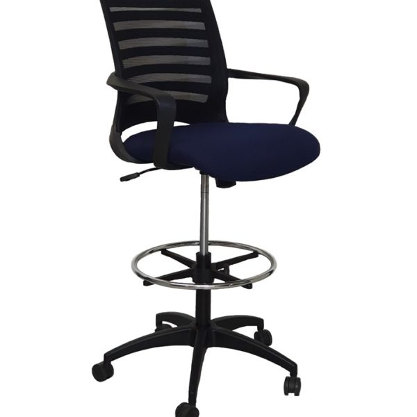 Barrier Draughtsman Chair (Netted Back & Upholstered Seat)